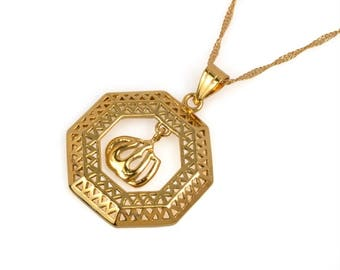 Islam Allah necklace pendant good color
