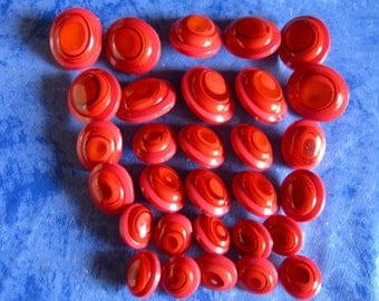 set of 30 buttons, vintage era, never used, 3 sizes