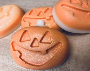 Jack O Lantern Soap/Sugar Scrub Bar Handmade By SterlingSoapCo