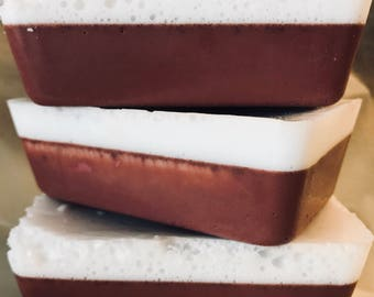 Red Velvet Soap with Double Butter and natural Cocoa Handmade by SterlingSoapCo