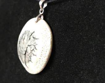 Porcelain model, unique necklace.