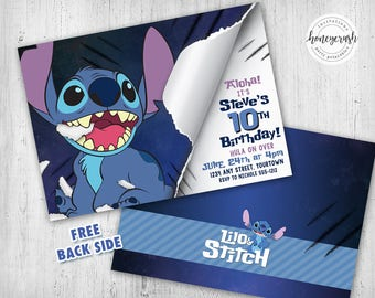 Stitch Birthday Invitation - Lilo & Stitch - Printable Digital File