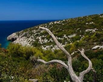 Fine Art printed photo canvas, Korakonisi,Zakynthos island ,Greece