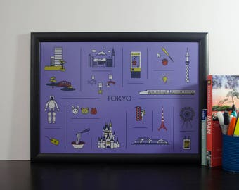 Minimal Tokyo, Japan Travel Print