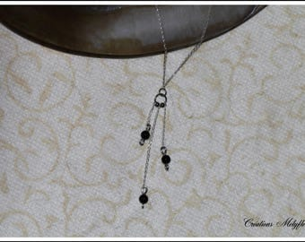 Natural stone Necklace: onyx