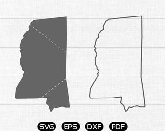 Mississippi SVG, State SVG Vector, MS Clipart, cricut, silhouette cut files commercial use