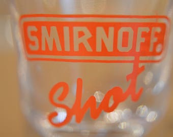 Set of Smirnoff vodka 6 glass shots. Old , collectibles.