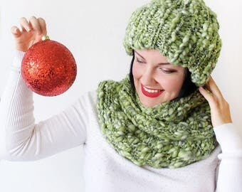 Chunky Hat and Infinity Scarf