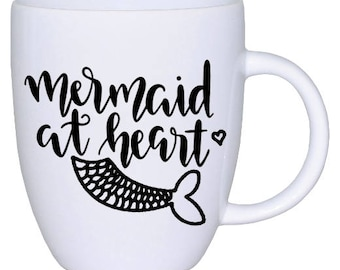 Mermaid At Heart | Decal | Car | Laptop | Wine Glass | Sticker