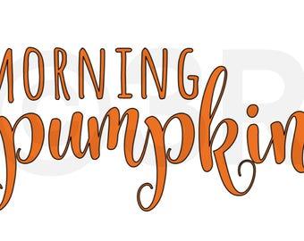 Morning Pumpkin Cup Decal