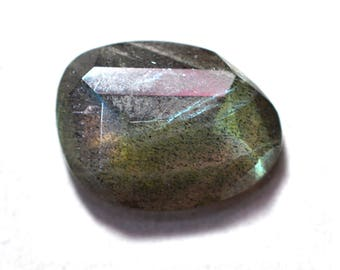 Labradorite Natural Labradorite Rose Cut Polki Both Side Faceted 5.60 cts 12x16 mm For Designer Jewelry 3953