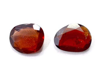 Garnet Natural Pyrope Garnet Both side Faceted Polki 3.75 cts. 2 Pieces From Mozambique 4044