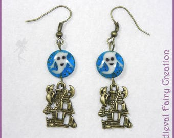 """Haunted mansion"" earrings"