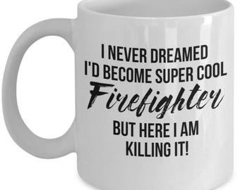 Firefighter Mug, Firefighter Gift, Gift For Firefighter, Personalized Firefighter Gift, Fireman Gift, Firefighter Gift idea, Fireman Mug