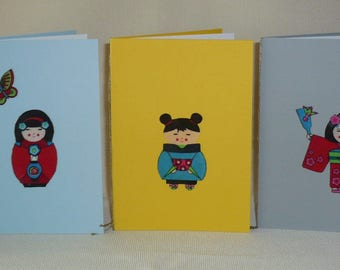 Set of 5 cards patterns Japanese pack 1