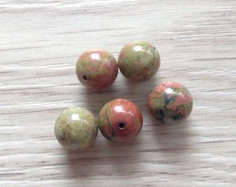 10 x 5 mm unakite stone beads