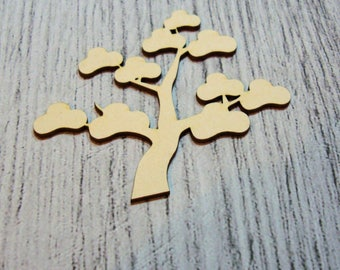 Tree 1055 a cut out of wood for your cards