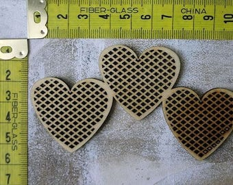 3 hearts 231 embellishment wooden creations