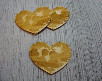 Heart individually 1523 embellishment wooden creations