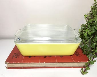 Vintage Yellow Pyrex Dish with Lid, 503-D