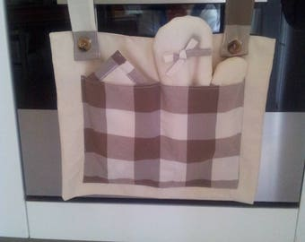 Cover fabric with oven glove and pot holder