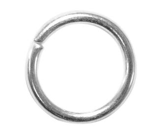 Set of 70 rings simple dot open silver-plated thickness 1.5 mm fdpg030
