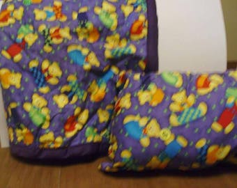 Baby quilt with pillow