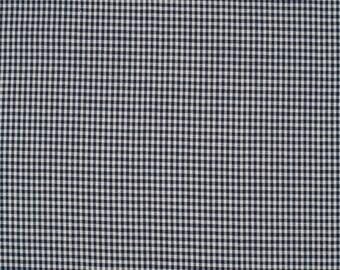 Marine2mm blue gingham fabric 100% cotton