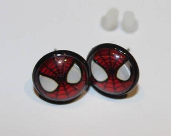 Spiderman Studs / Cartoon Studs / Spiderman Earrings