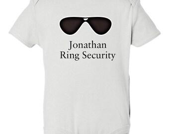 Ring Bearer Custom Onesie, Bridal Party Custom Shirt, Wedding Party Favor, Wedding Party Shirt, Ring Security, Custom Boys Shirt