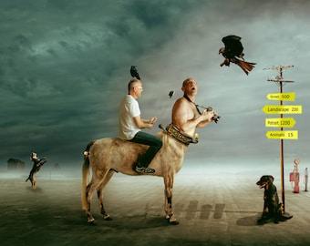 Photo artist as a Centaur