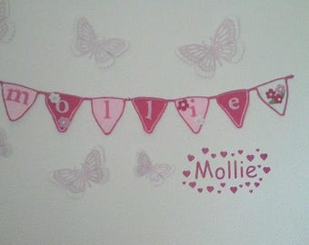 Crocheted bame bunting