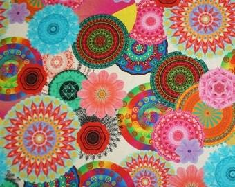 Fabric mandala pink tone 46.50 cm / 50 cm