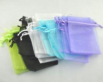 AU29 - Bags-set of 10 organza 9x7cm mixed color