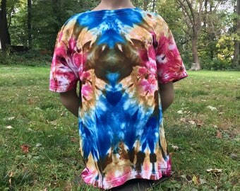 Boys L Ice Dye Thrifted T-shirt
