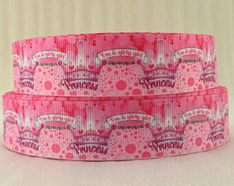 325 - Princess - grosgrain Ribbon - 25 mm sold by 50 CM - Princess ribbon