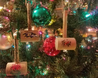 Maryland Crab Mini Mallet Christmas Ornaments