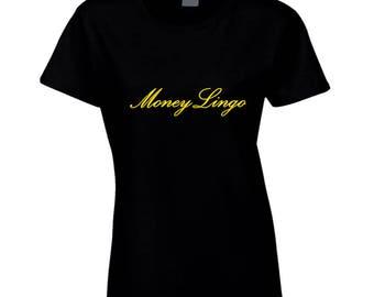 Money Lingo Womens Yellow Logo T Shirt