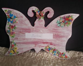 Door decorated Butterfly shape