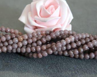 x 20 4 mm aventurine round beads purple PG28
