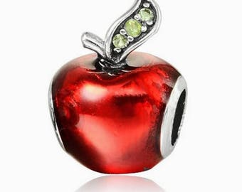 Pandora charms jewellery Disney snow whites apple charm for pandora charm bracelets pandora necklaces sterling silver jewellery craft making