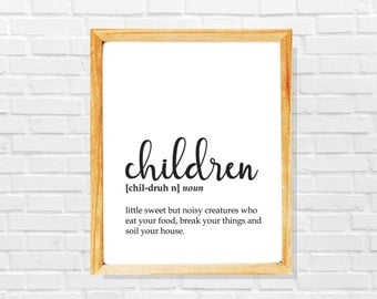 Overwhelmed parents gift, Funny gift for new parents, Soon to be parents sarcastic gift, Large family funny digital print, Family house gift