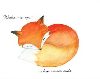Sleeping Fox - Wake me up... - Print