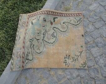 Door mat,entrance rug,square rug,outdoors rug,hand made Turkish rug,vintage rug,32'' x 26''