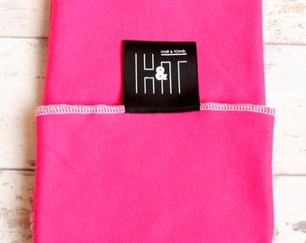 "Hair Towel / wrap ""PLUMP"" Cerise Pink"