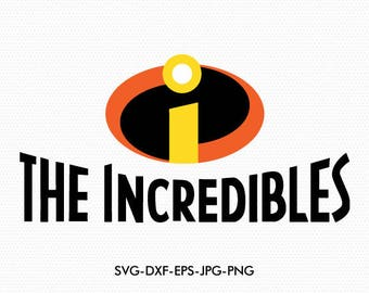 The Incredibles logo svg,Super Heroes logos Svg, use with Cricut & Silhouette