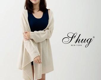 Oatmeal heather S'hug Cashmere Sleeved Cardigan Scarf/ Multi way Cashmere Scarf/ Cashmere Shawl/ Cashmere Wrap