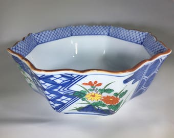 Vintage hand painted ceramic bowl from Tiffany Co.