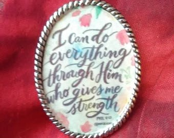 I Can Do Everything through Him who Gives me Strength necklace