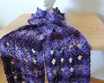 Purple shades scarf